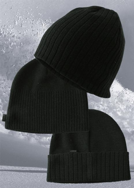 Talven yritysimagotuotteet - mustat pipot omalla logolla