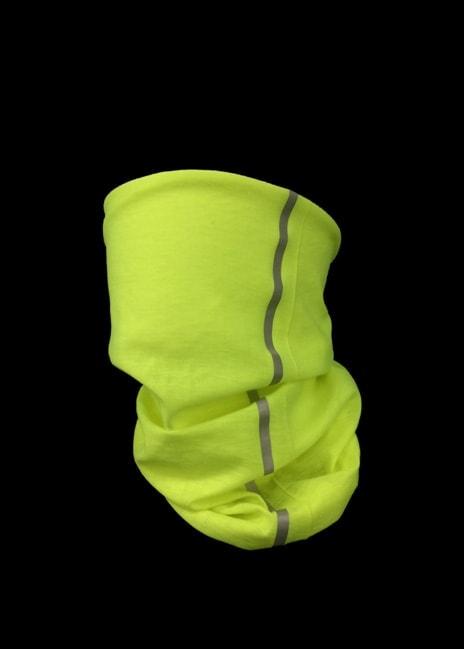 Heijastinraidalla varustettu neonhuivi on haluttu messutuote
